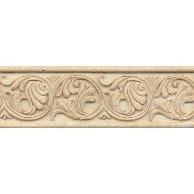 Marmi Di Napoli Deco Liner 4 x 12 Resin Tile in Creme Brulee