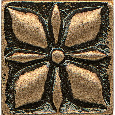 Ambiance Insert Jasmine 1 x 1 Resin Tile in Bronze