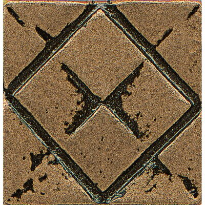 Ambiance Insert Matrix City 1 x 1 Resin Tile in Bronze