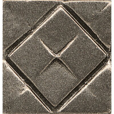 Ambiance Insert Matrix City 1 x 1 Resin Tile in Brushed Nickel