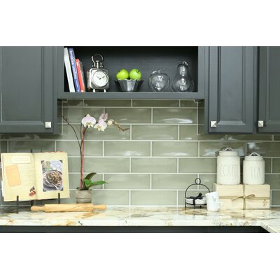 Leila 4 x 12 Ceramic Subway Tile in Dove