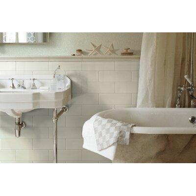 Grace 4 x 12 Ceramic Subway Tile in Bianco