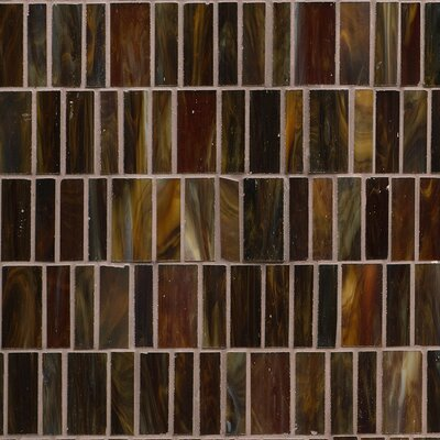 Kailua Random Sized Glass Mosaic Tile in Mist