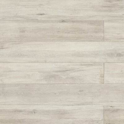 Othello 7.75 x 47.13 Porcelain Wood Field Tile in Gray