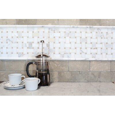 Basket Weave Honed Marble Mosaic Tile in Hillcrest