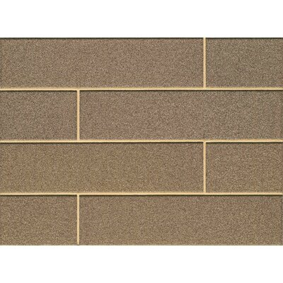 Remy Glass 4 x 16 Mosaic Matte Mesh Mount Tile in Golden