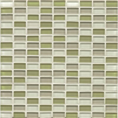 Hamptons 0.63 x 3.06 Glass Mosiac Tile in Meadow Lane