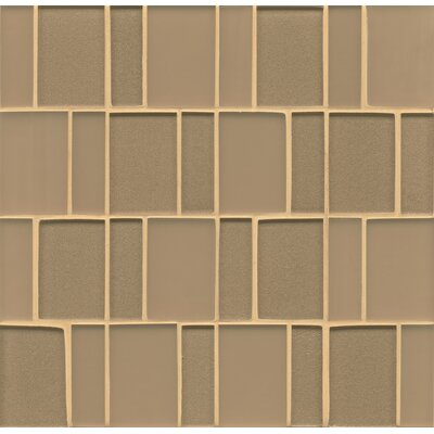 Remy Glass 12 x 12 Mosaic Brick in Golden