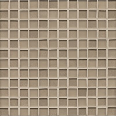 Manhattan 1 x 1 Glass Mosaic Tile in Brown