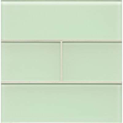 Harbor Glass 4 x 12 Glass Field Tile in Crystal