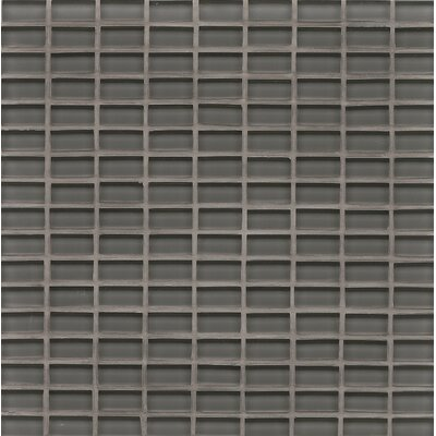 Harbor Glass Mosaic Mini Brick Gloss Tile in Anchor