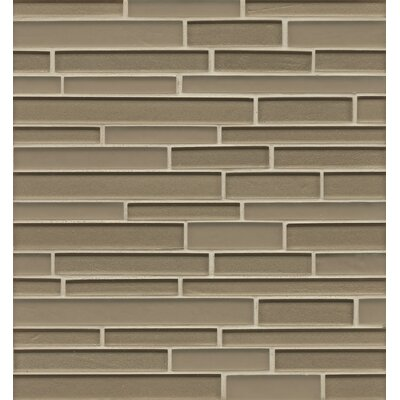 Manhattan Random Sized Glass Mosaic Tile in Madison Brown