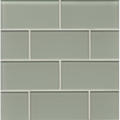 Harbor Glass 3 x 6 Glass Surf Gloss Field Tile in Jetty