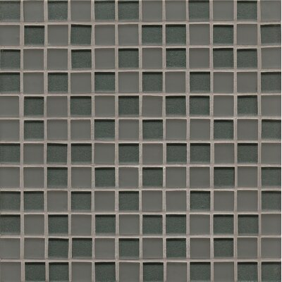 Manhattan 0.94 x 0.94 Glass Mosaic Tile in Concrete
