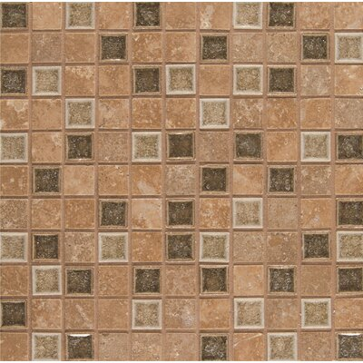 Kisment 1 x 1 Glass Mosaic Tile in Euphoria