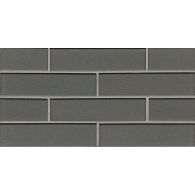 Remy Glass Mosaic Gloss Mesh Mount Tile in Metal