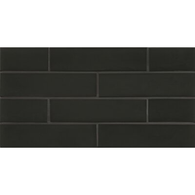 Manhattan 2 x 7.88 Glass Mosaic Tile in Matte Midnight