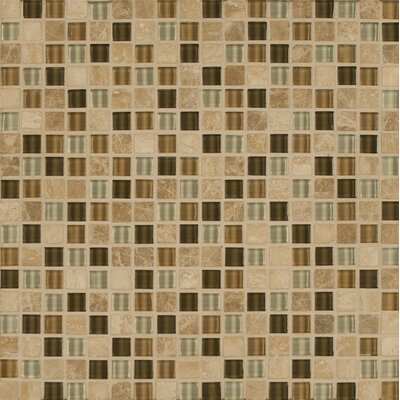 Eclipse 0.63 x 0.63 Glass Mosaic Tile in Allure