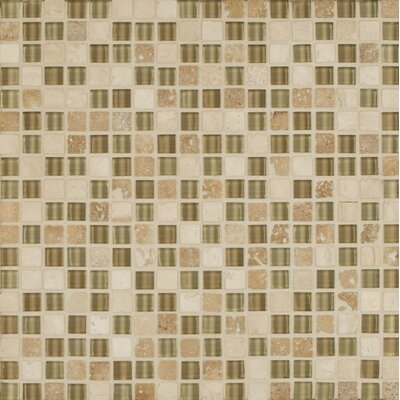 Carlisle 12 x 12 Stone Mosaic Linear Blend Tile in Whitby