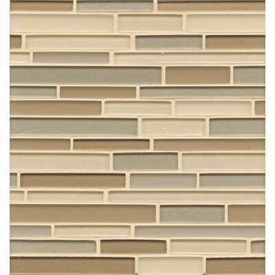 Remy Glass 12 x 13 Mosaic Random Interlocking Blends Tile in Aurora