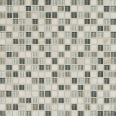 Carlisle 12 x 12 Mosaic Linear Blend Tile in Vale