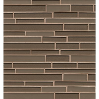 Remy Glass Mosaic Random Interlocking Tile in Taupe