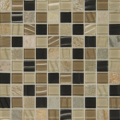 Elume 1.17 x 1.17 Natural Stone Mosaic Tile in Brown