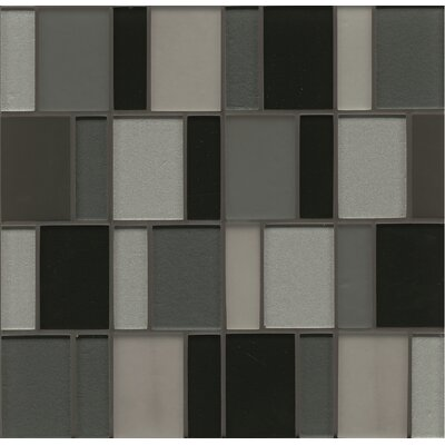 Remy Glass 12 x 12 Mosaic Brick Blends Tile in Evanston