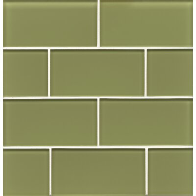 Harbor Glass Gloss Field Tile in Moss