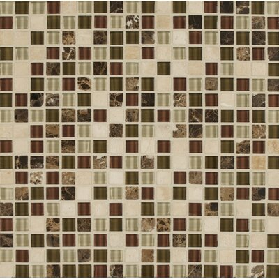 Eclipse 0.63 x 0.63 Glass Mosaic Tile in Merlot