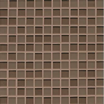 Remy Glass 12 x 12 Glass Mosaic Mesh Mounted in Brown