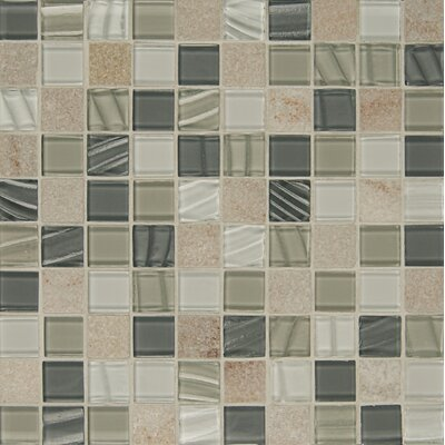 Elume 1.17 x 1.17 Natural Stone Mosaic Tile in Heather Grey