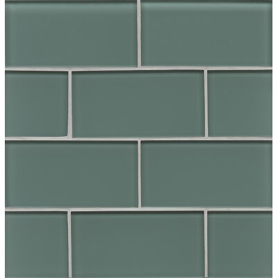 Harbor Glass 3 x 6 Glass Gloss Field Tile in Sea