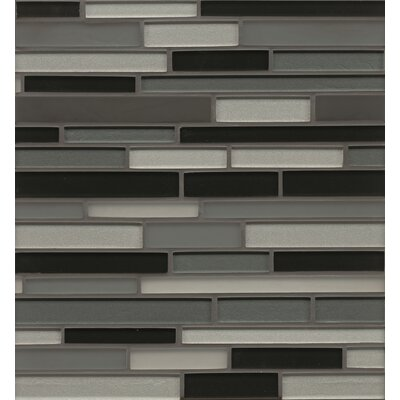 Remy Glass 12 x 13 Mosaic Random Interlocking Blends Tile in Evanston