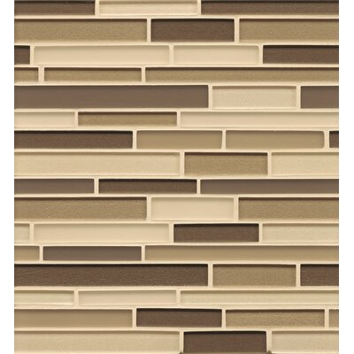 Remy Glass 12 x 13 Mosaic Random Interlocking Blends Tile in Arlington