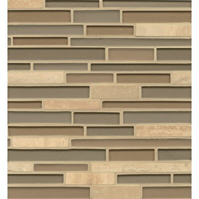 Remy Glass Slate/Glass Blend Mosaic Random Interlocking in Tinsley