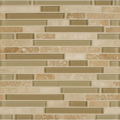 Eclipse Random Sized Glass Mosaic Tile in Beige
