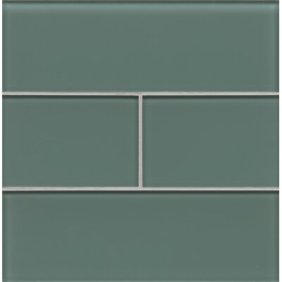 Hamptons 4 x 12 Glass Field Tile in Cushing Green
