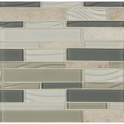 Elume Random Sized Glass Mosaic Tile in Heather Gray