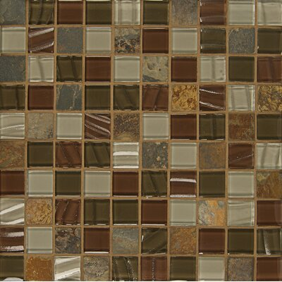 Queenstown 12 x 12 Stone and Glass Mosaic Tile in Ashton