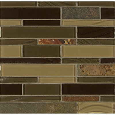 Elume Random Sized Glass Mosaic Tile in Java Bean