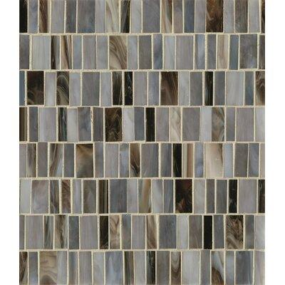 Retrospect Random Sized Glass Mosaic Tile in Blue Velvet