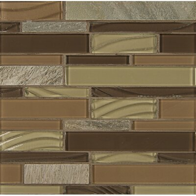 Elume Random Sized Glass Mosaic Tile in Maple Rum