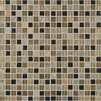 Queenstown 12 x 12 Stone and Glass Mosaic Tile in Wanaka