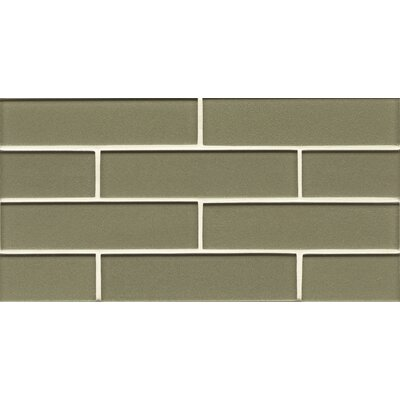 Manhattan 2 x 7.88 Glass Mosaic Tile in Mint