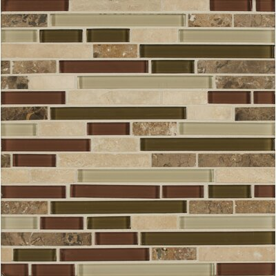 Carlisle 12 x 12 Stone Mosaic Linear Blend Tile in Cumbria