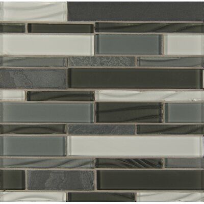 Elume Random Sized Glass Mosaic Tile in Organic Pewter