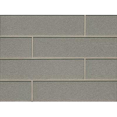 Manhattan 4 x 16 Glass Field Tile in Glossy Platinum