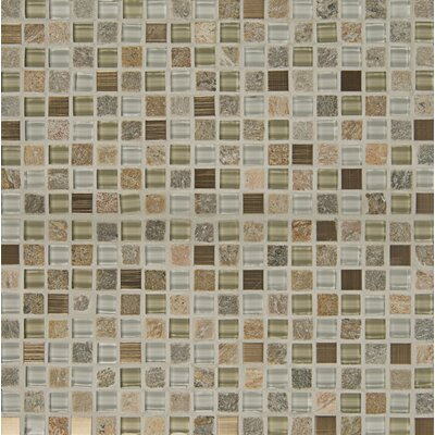 Elume 0.63 x 0.63 Glass and Natural Stone Mosaic Tile in Multi
