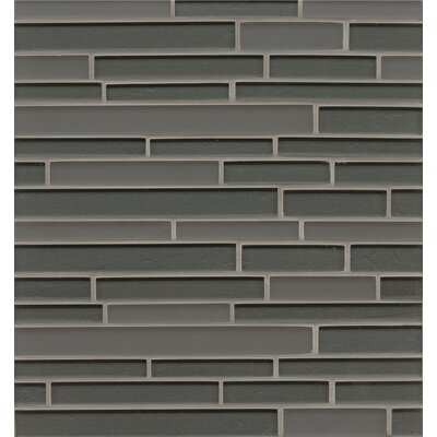 Manhattan Random Sized Glass Mosaic Tile in Matte Concrete